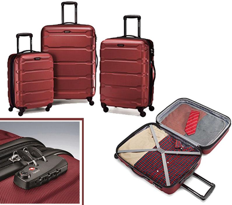 8f7070fcb7c Esse kit de malas Samsonite já vem com cadeado embutido TSA Approved  (entenda o que isso significa aqui) e custa US  320