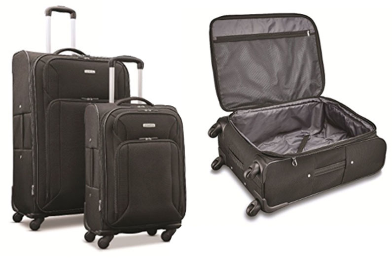 edec5aa1bfe96 Esse kit com duas malas da Samsonite está apenas US  112,00 no Amazon!  Ainda tava na dúvida se vale a pena comprar malas nos EUA  Rs..