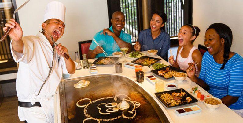 Teppan Edo – restaurante japonês de mesa do Chef no EPCOT