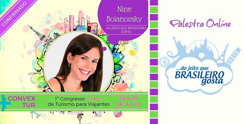 Palestra Nine Boianovsky no Convex Tur – Congresso Online para Viajantes