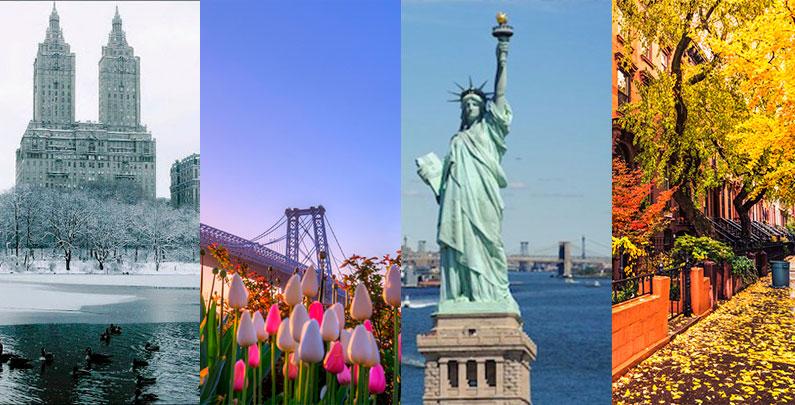 Temperatura e Clima em Nova York | Aproveite ao máximo cada estação